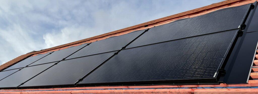 a solar panel install