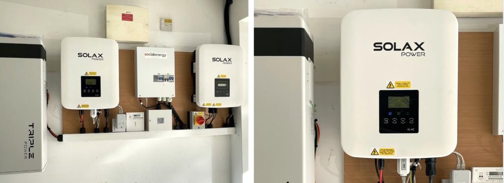 Solax solar battery power